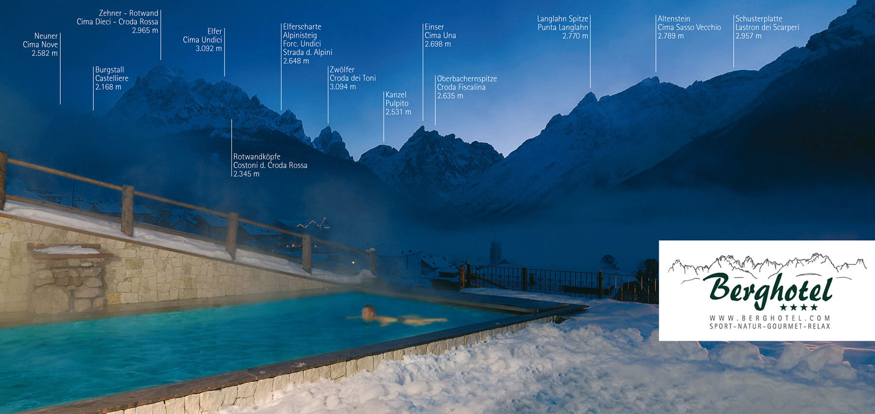 Swimming Pool In The Dolomites Italy