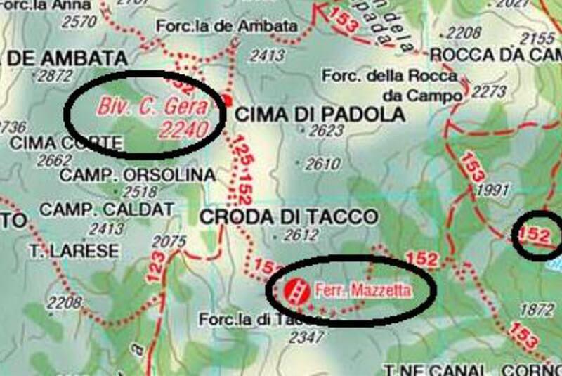 Klettersteig Map : Klettersteig mazzetta in den sextner dolomiten berghotel
