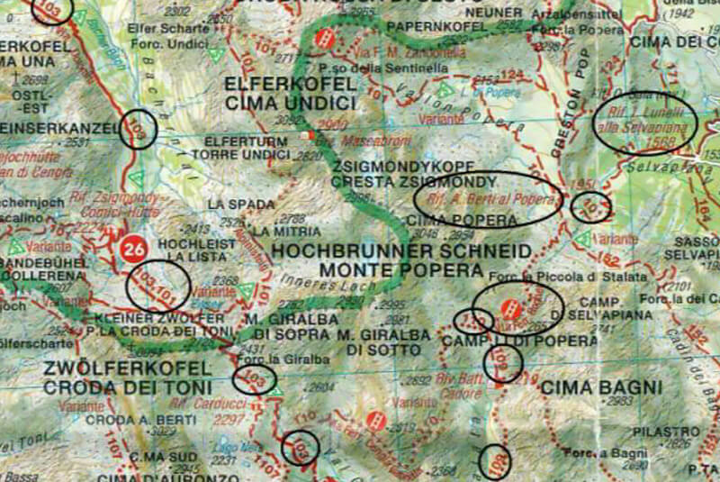Klettersteig Map : Däumling gartnerkofel m klettersteig karnische alpen