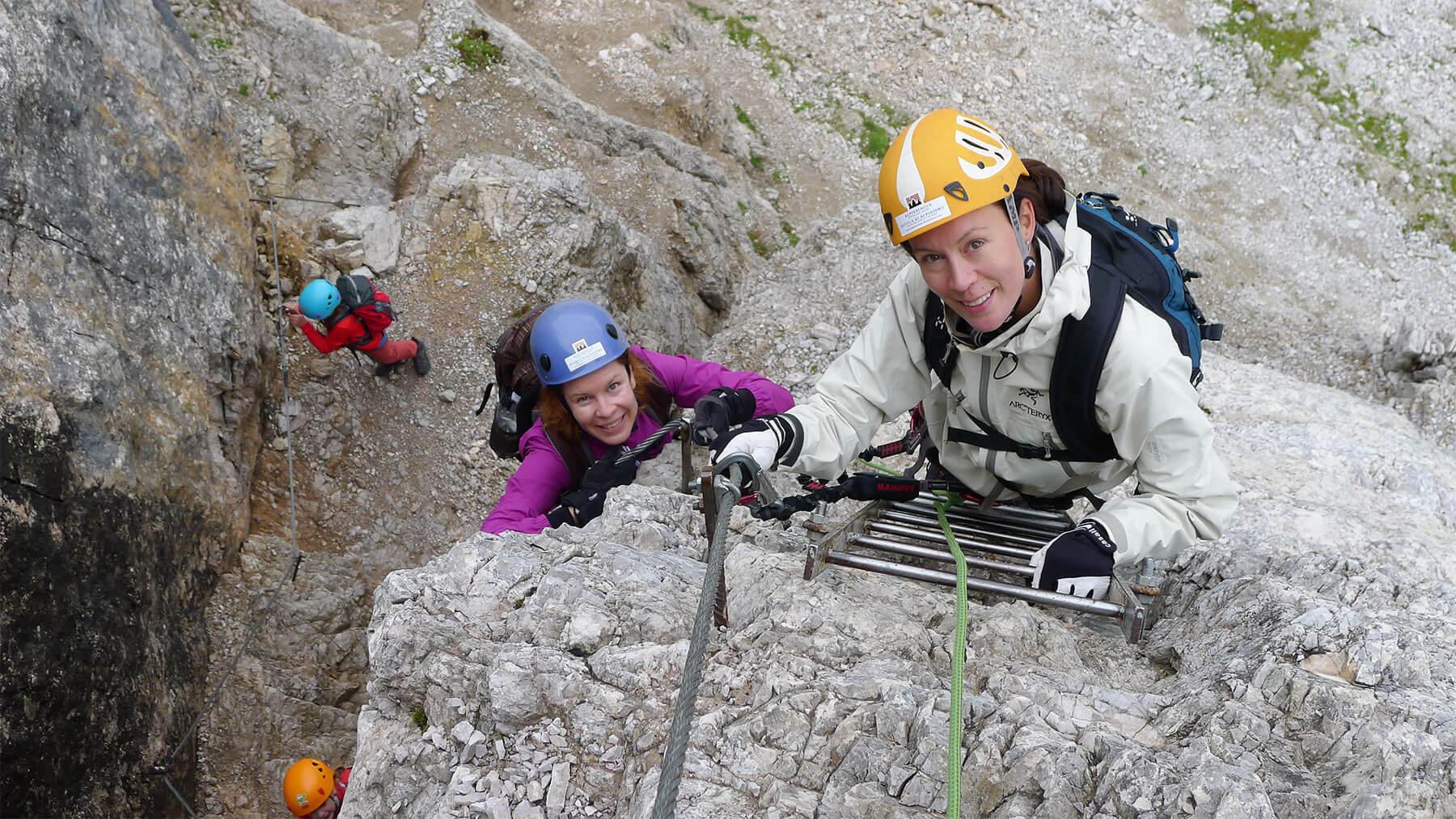 Klettersteig Rucksack : Klettersteige in den dolomiten karte & tourenbeschreibung berghotel